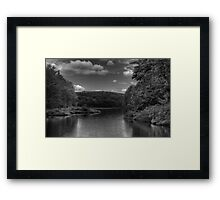 Huntsville Reservoir in B&W Framed Print