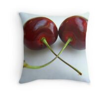 Crisscross Cherries Throw Pillow