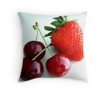 Cherries and Strawberry Throw Pillow