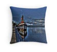 Old Tug Boat Throw Pillow
