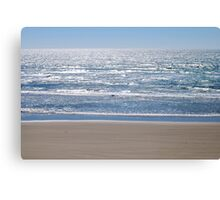 Sand and Ocean at Newport, Oregon  Canvas Print