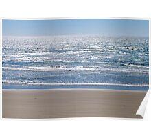 Sand and Ocean at Newport, Oregon  Poster