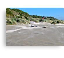 Beachfront Home Newport, Oregon Canvas Print