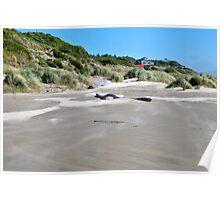 Beachfront Home Newport, Oregon Poster