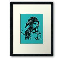 Icon: Amy Winehouse Framed Print