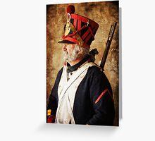 Profile of a Napoleonic Era Infantryman Greeting Card