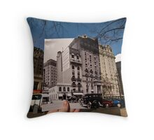 Looking Into the Past: Willard Hotel, Pennsylvania Ave, Washington, DC Throw Pillow