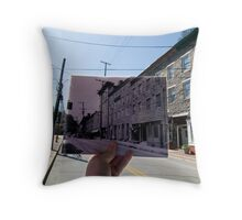 Looking Into the Past: Main Street, Ellicott City, MD Throw Pillow