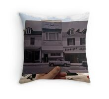 Looking Into the Past: Main Street, Annapolis, MD Throw Pillow