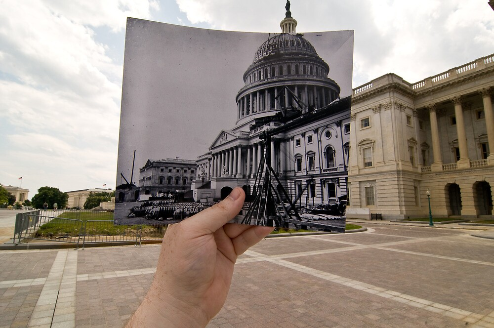 Looking Into the Past: US Capitol Under Construction, Washington, DC by Jason Powell