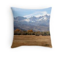 """East Facing Slopes"" Throw Pillow"