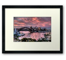 In The Pink - Sydney Harbour - The HDR Experience Framed Print