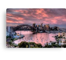 In The Pink - Sydney Harbour - The HDR Experience Canvas Print