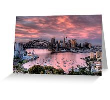 In The Pink - Sydney Harbour - The HDR Experience Greeting Card