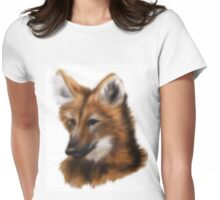 Maned Wolf Womens Fitted T-Shirt