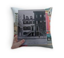 Looking Into the Past: Mary Surratt House, Washington, DC Throw Pillow