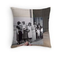 Looking Into the Past: Beauty Pageant Winners, Union Station, Washington, DC Throw Pillow