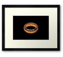 be my valentine ring Framed Print