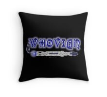 Whovian Screwdriver Throw Pillow