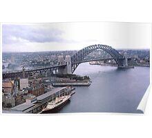 Circular Quay (West) & Harbour Bridge Sydney 1963 Poster