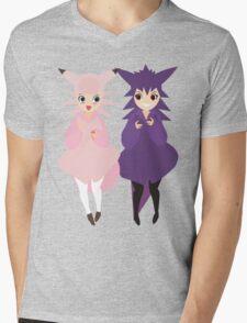 Gengar & Clefable Mens V-Neck T-Shirt