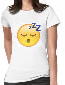 Sleeping Face Emoji Womens Fitted T-Shirt