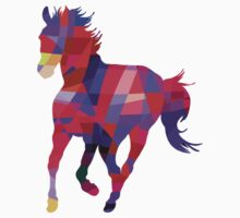 Cool Horse Vector Colors T-Shirt Prints and Stickers Kids Clothes