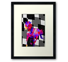 Cool Horse Vector Colors T-Shirt Prints and Stickers Framed Print