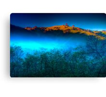 Morning Fog Near Lake Eildon Canvas Print