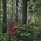 Window In The Woods by keepsakeart