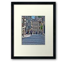 Zurich Cobblestone Street Framed Print