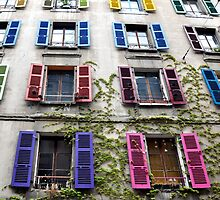 Colorful Shutters by Nick Conde-Dudding