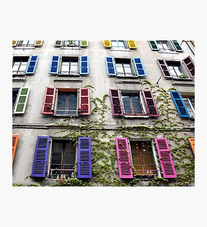 Colorful Shutters Photographic Print