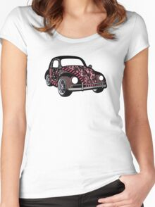Buggin' - Damask Women's Fitted Scoop T-Shirt