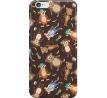 Funny Smiling Monkeys iPhone Case/Skin