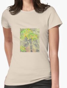 Barefoot Dreams of Yellow Wildflowers Womens Fitted T-Shirt