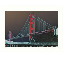 Golden Gate Bridge Altered Art Print