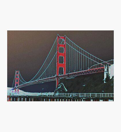 Golden Gate Bridge Altered Photographic Print