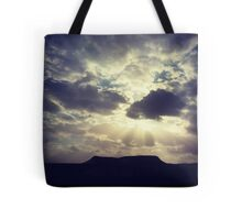 Cloudy Day Over Desert Mountain Tote Bag