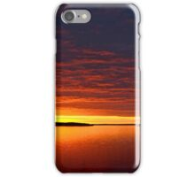 A great Winter sunset iPhone Case/Skin