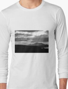 Lanzarote: black and white Long Sleeve T-Shirt