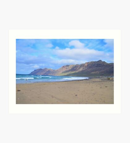 Lanzarote: Life is like surfing Art Print
