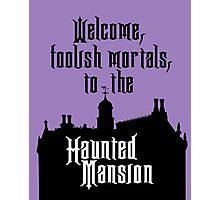 Haunted Mansion - Walt Disney World Photographic Print