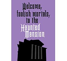 Haunted Mansion - Disneyland Photographic Print