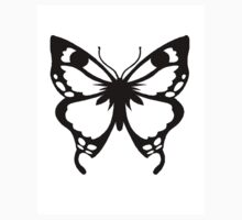 0743 Black and White Butterfly Kids Clothes