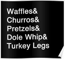 Disney Food List Poster