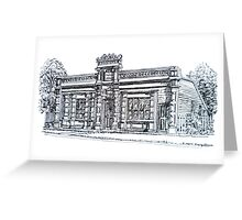 Buninyong, Victoria. The Old Library and Mechanic's Institute. c1861.  Greeting Card
