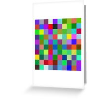 Color Squares 9 Greeting Card