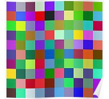 Color Squares 9 Poster