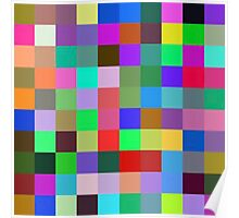 Color Squares 10 Poster